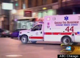 The suspected serial robber was taken to Stroger Hospital after being shot by police in Wicker Park early Wednesday.