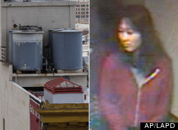 Elisa Lam, seen in a hotel surveillance video, was found dead in a rooftop water tank. (AP/LAPD)