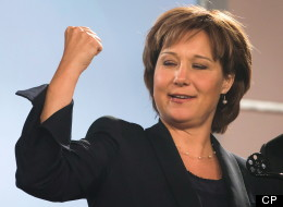 Christy Clark hit the hustings Saturday, introducing BC Liberal candidates at a pre-campaign kickoff. (Canadian Press)