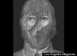A sketch of the attacker in the 1970s, one of the few derived from rape victims' descriptions.