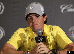 ory McIlroy, of Northern Ireland, pauses during a news conference at the World Golf Championships Cadillac Championship, in Doral, Fla., Wednesday March 6, 2013.  (AP Photo/Alan Diaz)