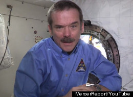Astronaut Chris Hadfield appeared in a Rick Mercer Report segment promoting