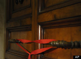 A red ribbon sealed the door of the apartment of Pope Benedict XVI after he left the Vatican on Thursday, Feb. 28. In a new Pew survey, American Catholics say the biggest issue facing the church -- and by extension the next pope -- is sexual abuse.