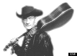 Stompin' Tom Connors In Younger Days On Self-Titled Album Cover