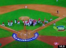 Canada and Mexico had a surprisingly physical baseball game on Saturday. (MLB)