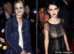 Their glory days: Drew Barrymore and Winona Ryder when they were style stars. (Ron Galella, Ltd., Kevin Mazur/WireImage/Getty Images)