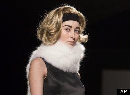 Toronto Fashion Week: Pink Tartan showed off models with blond wigs