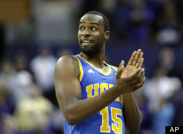 UCLA's Shabazz Muhammad reacts to a play during the second half of an NCAA college basketball game against Washington, Saturday, March 9, 2013, in Seattle. (AP Photo/Ted S. Warren)