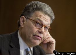 FILE - Sen. Al Franken (D-Minn.) questions witnesses testifying before the Senate Energy and Natural Resources Committee during a committee hearing on Capitol Hill in Washington, D.C., March 29, 2011. (Saul Loeb/AFP/Getty Images)