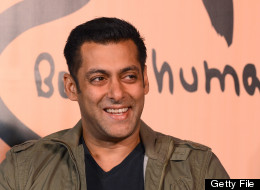 Bollywood film actor Salman Khan smiles during the launch of his 'Being Human' flagship clothing store in Mumbai on January 17, 2013. AFP PHOTO/ INDRANIL MUKHERJEE
