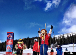 Skiers visiting Lake Louise ski hill last Friday got to witness one of the most unusual races in the resort's history, as NFL mascots strapped on skis and took to the slalom course. (Twitter: @banff_squirrel)