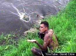 Antonio Ruiz snapped some shots of his very close encounter with a crocodile in Costa Rica.