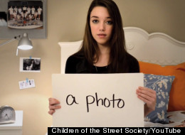 This PSA is eerily similar to the last video posted by Amanda Todd. (Children of the Street Society/YouTube)