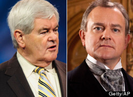 Former Republican presidential candidate and House Speaker Newt Gingrich (R-Ga.) (left) used Downton Abbey as a metaphor for the dynamism the GOP is currently lacking.