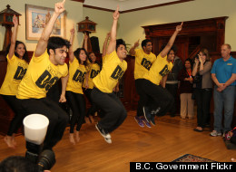 Times of India Film Awards dancers choreographed by Shiamak Davar perform for kids at Vancouver's Canuck Place kids' hospice. (<a href=