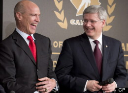Prime Minister Stephen Harper will pay tribute to three hockey greats today when Paul Henderson, Dave King and Mark Messier are awarded the Order of Hockey in Canada for their contributions to the game. (HO)