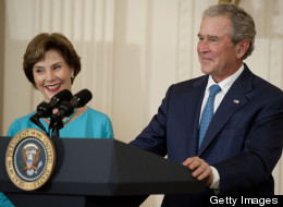 Former President George W. Bush has raised more than $500 million in contributions towards his presidential library, scheduled to be dedicated later this month. (Photo by Leigh Vogel/WireImage)