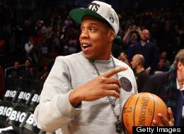 Jay-Z looks on before the Brooklyn Nets play against the New York Knicks at Barclays Center on November 26, 2012 in the Brooklyn borough of New York City.