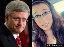 Harper addressed Rehtaeh Parsons' bullying, saying that criminal activity needs to be addressed as such. (CP/Facebook)