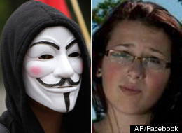 The peaceful protest on how the RCMP had handled the Rehtaeh Parsons case was organized by the online hacker group Anonymous, which claims it knows the identities of the boys accused of being involved in the alleged sexual assault. (AP/Facebook)