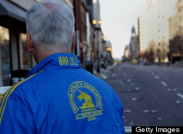 Runners and citizens took to wearing the colours blue and yellow in support of victims of the Boston Marathon bombing.