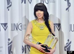 Carly Rae Jepsen wins at the 2013 Juno Awards.