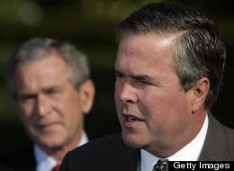 Jeb Bush y George W. Bush.