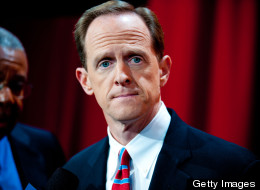 Sen. Pat Toomey (R-Pa.) blamed partisan politics for the failure of his bipartisan push to expand background checks for gun sales. (Photo by Jeff Fusco/Getty Images)