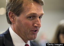 Sen. Jeff Flake (R-Ariz.) said he could support tighter background checks on gun sales if senators pushing their proposal made some changes relating to Internet sales. (Photo credit: Bill Clark/CQ-Roll Call)