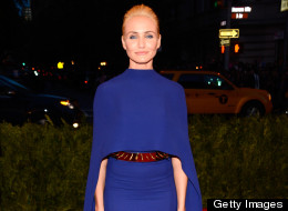 Cameron Diaz jumps on the cape trend at the 2013 Met Gala.