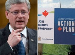 Prime Minister Stephen Harper is justifying the more than $100 million his government has spent on economic advertising by pointing to Canadians' confidence in the economy. (CP)