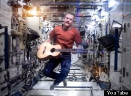 Chris Hadfield floats in a most peculiar way while singing David Bowie's 'Space Oddity.'
