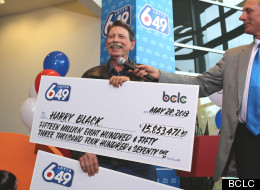 Harry Black, 66, of Surrey was awarded with two cheques totaling $31.7 million. (BCLC)