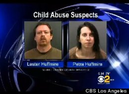 Lester and Petra Huffmire kept two young girls locked in their filthy mobile home while they played World of Warcraft all day, according to prosecutors. (photo credit: CBS Los Angeles)