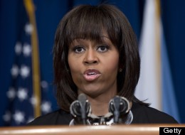First Lady Michelle Obama confronted a heckler at a DNC fundraiser on Tuesday. (SAUL LOEB/AFP/Getty Images)