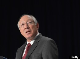 Former Interior Secretary Ken Salazar speaks during the National Prayer Breakfast on February 7, 2013 at a hotel in Washington, DC. (MANDEL NGAN/AFP/Getty Images)