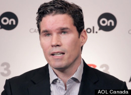 Renny Monaghan speaking at the AOL Canada Conversation Studio at Dx3 Canada