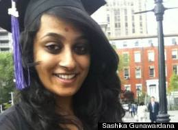 Sashika Gunawardana, who graduated from NYU in 2012, has monthly payments from student loans that total $1,000, leaving her with little leftover to save for graduate school, or to even visit family in California.