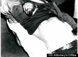 The body of Al Notorangeli, who was shot and killed in 1974 by John Martorano, while James