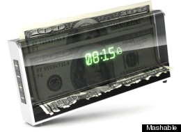 Above: a conceptual money-shredding clock