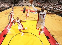 LeBron James tuvo una destacada actuación con Miami en el sexto juego de la final