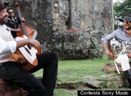 Juan Luis Guerra y Draco grabando el video