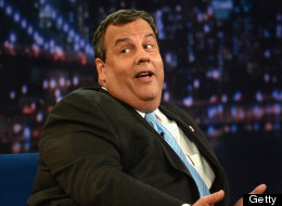 New Jersey Gov. Chris Christie (R) visits 'Late Night With Jimmy Fallon' at Rockefeller Center on June 12, 2013 in New York City.  (Theo Wargo/Getty Images)