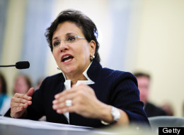 Chicago billionaire Penny Pritzker testifies at a Senate Commerce, Science and Transportation Committee hearing on her nomination as Commerce secretary in Washington, D.C., U.S., on Thursday, May 23, 2013. (Pete Marovich/Bloomberg via Getty Images)