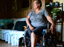 Eloisa Lara, a 67-year-old immigrant from Mexico, says she is not bitter about a leg amputation due to complications from diabetes. (Bastien Inzaurralde/Cronkite News Service/MCT via Getty Images)