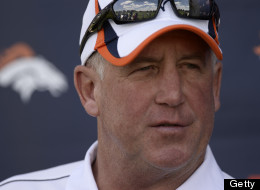 ENGLEWOOD, CO. - JUNE 03: Head coach John Fox of the Denver Broncos talks to the media after practice during OTAs June 3, 2013 at Dove Valley. (Photo By John Leyba/The Denver Post via Getty Images)