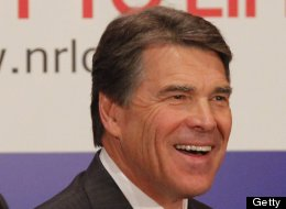 Gov. Rick Perry smiles before speaking at the general session of the 43rd annual National Right to Life Convention at the Hyatt Regency DFW International Airport, Thursday, June 27, 2013. (Rodger Mallison/Fort Worth Star-Telegram/MCT via Getty Images)