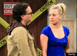 LOS ANGELES - JANUARY 15: 'The Spoiler Alert Segmentation' -- When Sheldon (Jim Parsons, right) and Leonard (Johnny Galecki, left) fight, it affects Penny (Kaley Cuoco, left center) and Amy's (Mayim Bialik, right center) living arrangements, on THE BIG BANG THEORY, Thursday, Feb. 7 (8:00 ' 8:31 PM, ET/PT) on the CBS Television Network. (Photo by Sonja Flemming/CBS via Getty Images)