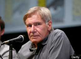 SAN DIEGO, CA - JULY 18:  Actor Harrison Ford speaks onstage at the 'Ender's Game' press conference during Comic-Con International 2013 at San Diego Convention Center on July 18, 2013 in San Diego, California.  (Photo by Joe Scarnici/Getty Images for Summit Entertainment)