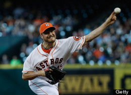 Erik Bedard #45 of the Houston Astros throws a pitch in the frst inning against the Seattle Mariners at Minute Maid Park on July 20, 2013 in Houston, Texas.  (Photo by Scott Halleran/Getty Images)